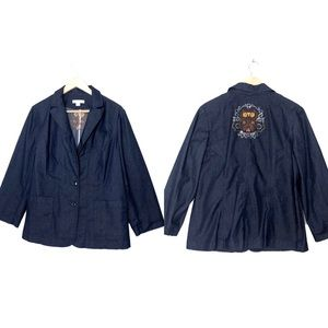 Pendleton Owl Chambray Blazer Jacket